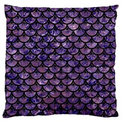 Scales3 Black Marble & Purple Marble (r) Large Cushion Case (one Side) by trendistuff