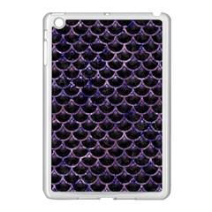 Scales3 Black Marble & Purple Marble Apple Ipad Mini Case (white) by trendistuff