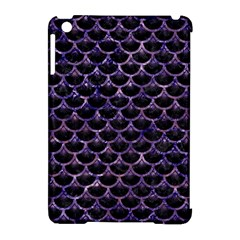 Scales3 Black Marble & Purple Marble Apple Ipad Mini Hardshell Case (compatible With Smart Cover) by trendistuff