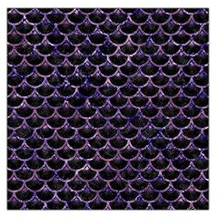 Scales3 Black Marble & Purple Marble Large Satin Scarf (square) by trendistuff