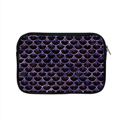 Scales3 Black Marble & Purple Marble Apple Macbook Pro 15  Zipper Case