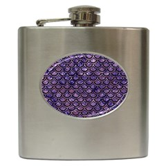 Scales2 Black Marble & Purple Marble (r) Hip Flask (6 Oz) by trendistuff