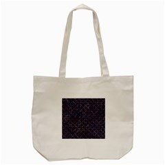 Scales2 Black Marble & Purple Marble Tote Bag (cream) by trendistuff