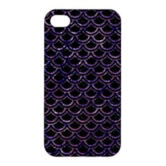 Scales2 Black Marble & Purple Marble Apple Iphone 4/4s Hardshell Case