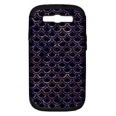 Scales2 Black Marble & Purple Marble Samsung Galaxy S Iii Hardshell Case (pc+silicone) by trendistuff