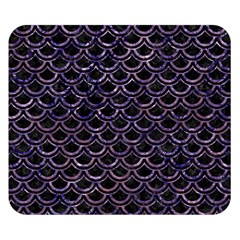 Scales2 Black Marble & Purple Marble Double Sided Flano Blanket (small) by trendistuff