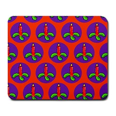 Christmas Candles Seamless Pattern Large Mousepads