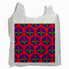 Christmas Candles Seamless Pattern Recycle Bag (two Side)  by Amaryn4rt