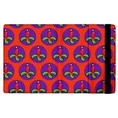 Christmas Candles Seamless Pattern Apple Ipad 2 Flip Case