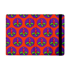 Christmas Candles Seamless Pattern Apple Ipad Mini Flip Case