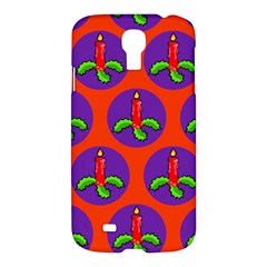 Christmas Candles Seamless Pattern Samsung Galaxy S4 I9500/i9505 Hardshell Case