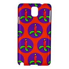 Christmas Candles Seamless Pattern Samsung Galaxy Note 3 N9005 Hardshell Case