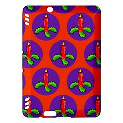 Christmas Candles Seamless Pattern Kindle Fire Hdx Hardshell Case