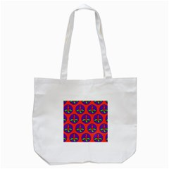 Christmas Candles Seamless Pattern Tote Bag (white)