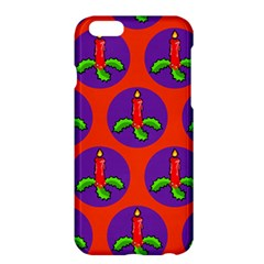 Christmas Candles Seamless Pattern Apple Iphone 6 Plus/6s Plus Hardshell Case