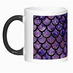 Scales1 Black Marble & Purple Marble (r) Morph Mug by trendistuff