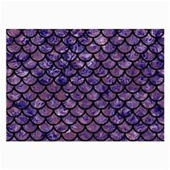 Scales1 Black Marble & Purple Marble (r) Large Glasses Cloth by trendistuff