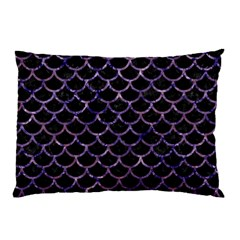 Scales1 Black Marble & Purple Marble Pillow Case by trendistuff