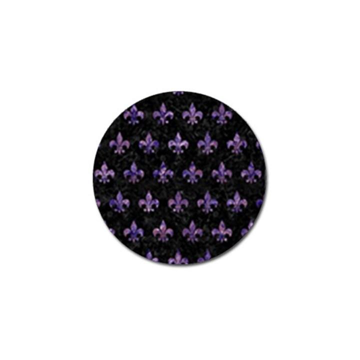 ROYAL1 BLACK MARBLE & PURPLE MARBLE (R) Golf Ball Marker