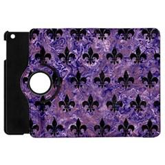 Royal1 Black Marble & Purple Marble Apple Ipad Mini Flip 360 Case by trendistuff