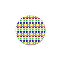 Colorful Curtains Seamless Pattern Golf Ball Marker (10 Pack)
