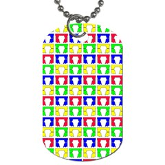 Colorful Curtains Seamless Pattern Dog Tag (two Sides)