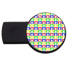 Colorful Curtains Seamless Pattern Usb Flash Drive Round (2 Gb)