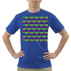 Colorful Curtains Seamless Pattern Dark T Shirt