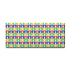 Colorful Curtains Seamless Pattern Cosmetic Storage Cases