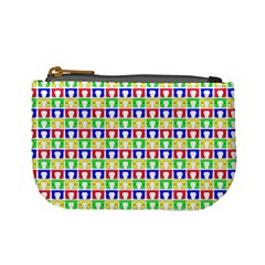 Colorful Curtains Seamless Pattern Mini Coin Purses