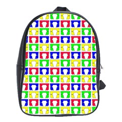 Colorful Curtains Seamless Pattern School Bags(large)