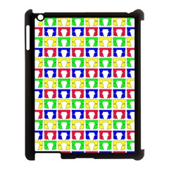 Colorful Curtains Seamless Pattern Apple Ipad 3/4 Case (black) by Amaryn4rt