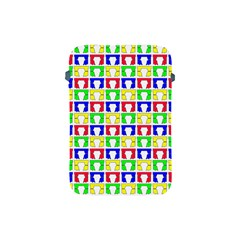 Colorful Curtains Seamless Pattern Apple Ipad Mini Protective Soft Cases by Amaryn4rt
