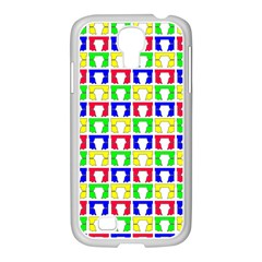 Colorful Curtains Seamless Pattern Samsung Galaxy S4 I9500/ I9505 Case (white)