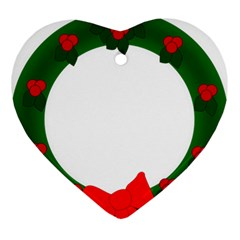 Holiday Wreath Ornament (heart)  by Amaryn4rt