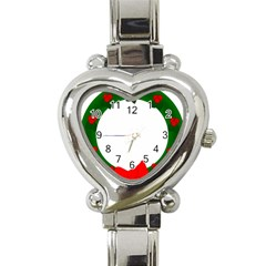 Holiday Wreath Heart Italian Charm Watch by Amaryn4rt
