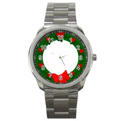 Holiday Wreath Sport Metal Watch by Amaryn4rt
