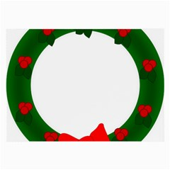 Holiday Wreath Large Glasses Cloth by Amaryn4rt