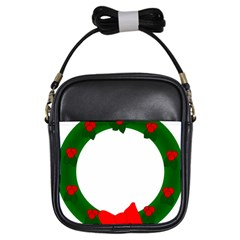 Holiday Wreath Girls Sling Bags