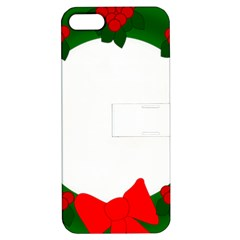 Holiday Wreath Apple Iphone 5 Hardshell Case With Stand by Amaryn4rt