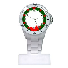Holiday Wreath Plastic Nurses Watch by Amaryn4rt