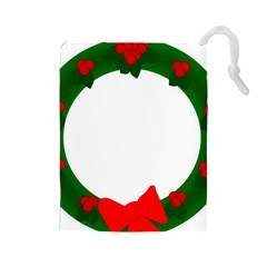Holiday Wreath Drawstring Pouches (large)