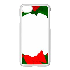 Holiday Wreath Apple Iphone 7 Seamless Case (white) by Amaryn4rt