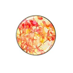Monotype Art Pattern Leaves Colored Autumn Hat Clip Ball Marker by Amaryn4rt
