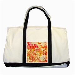 Monotype Art Pattern Leaves Colored Autumn Two Tone Tote Bag