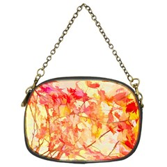 Monotype Art Pattern Leaves Colored Autumn Chain Purses (one Side)