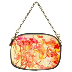 Monotype Art Pattern Leaves Colored Autumn Chain Purses (two Sides)