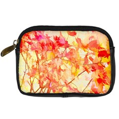 Monotype Art Pattern Leaves Colored Autumn Digital Camera Cases by Amaryn4rt