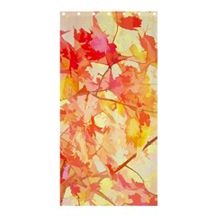 Monotype Art Pattern Leaves Colored Autumn Shower Curtain 36  X 72  (stall)