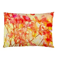 Monotype Art Pattern Leaves Colored Autumn Pillow Case (two Sides)